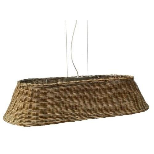 Grote hanglamp van riet met ronde hoeken. : LaVie Home Deco